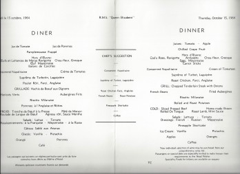 15 dinner flamingos menu
