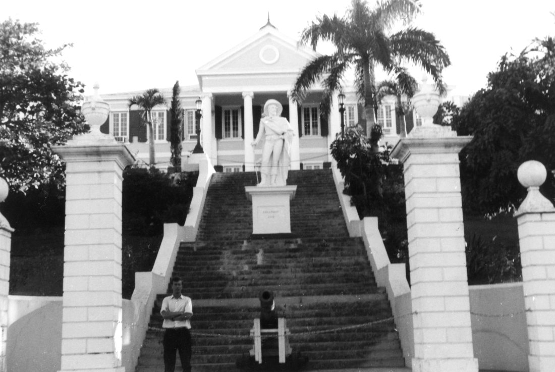 Dec 64 Tony at Government House, Nassau