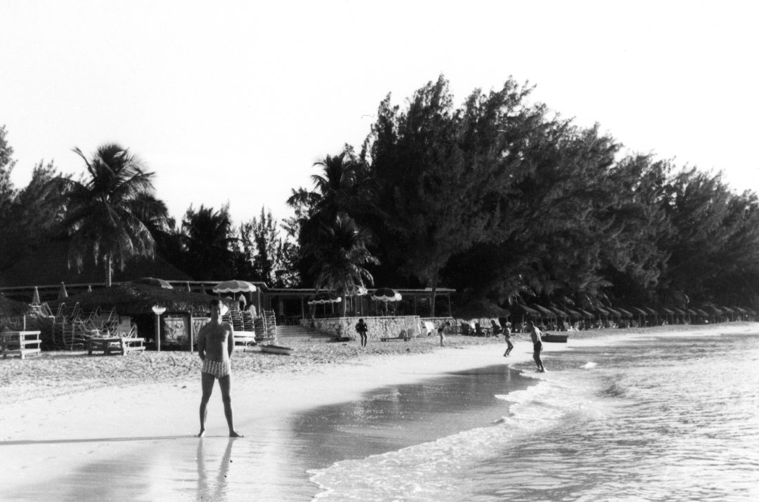 Dec 64 Tony on beach in Bahamas