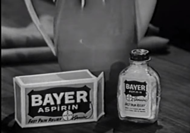 Bayer Aspirin advert what's my line