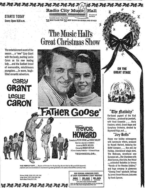 Carey Grant Mother Goose Radio City Music Hall 1965