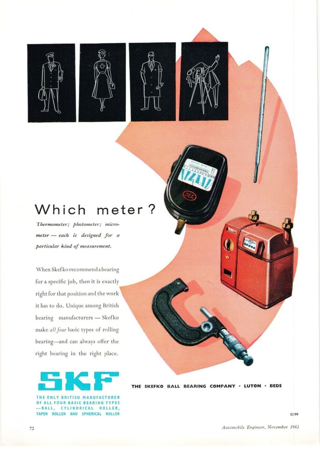 SKF 1960 advert