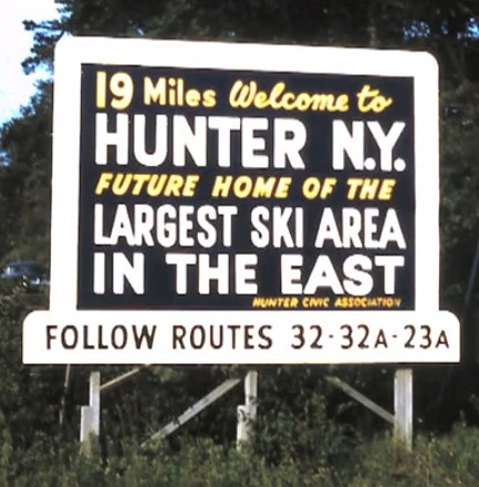 Hunter Mountain ski resort signage