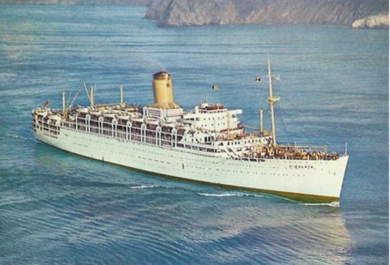 P&O SS Himalaya postcard