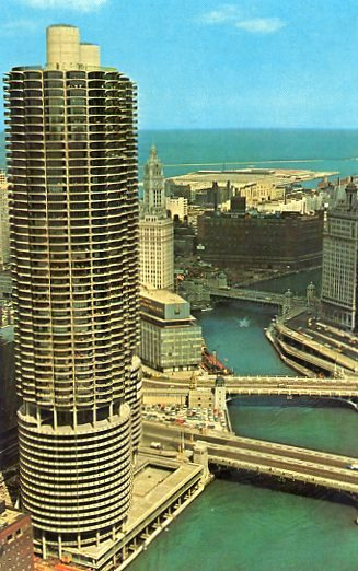1965 04 10 Chicago postcard front