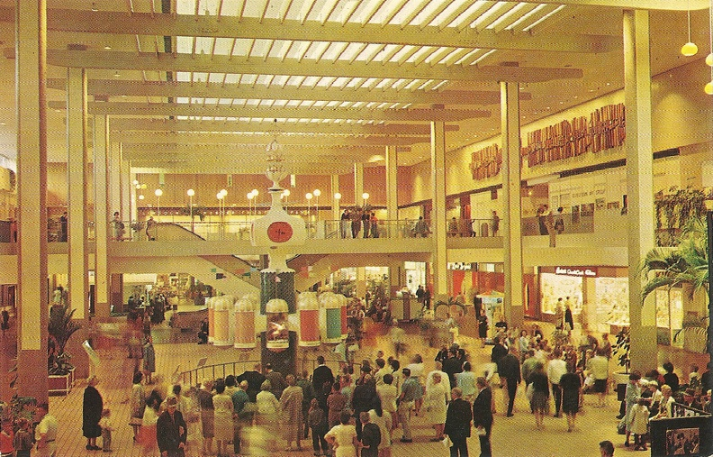 1965 04 22 postcard Midtown Shopping Mall, Rochester NY