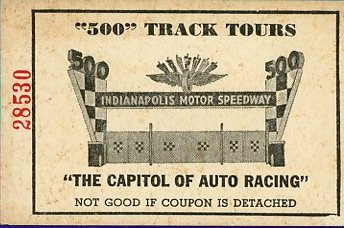 Indianapolis speedway ticket front