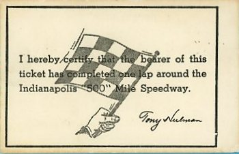 indianapolis speedway ticket rear