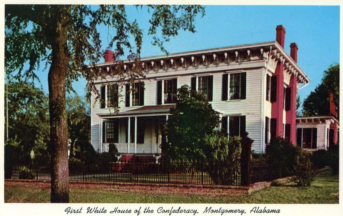 1965 05 First White House of the Confederacy Mongomery Alabama postcard.jpg