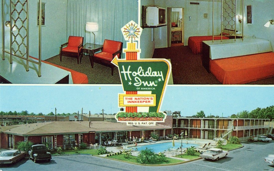 1965 05 Holiday Inn Montgomery Alabama postcard