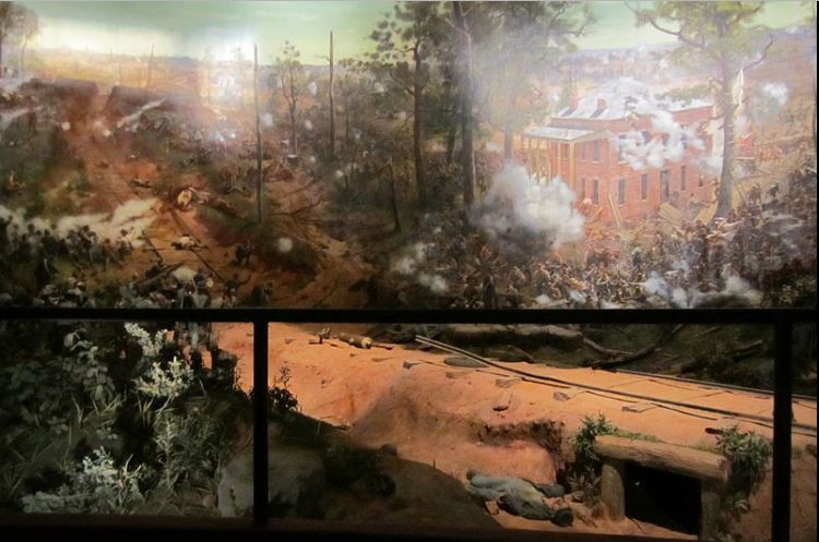 Civil War battlescene at Atlanta Cyclorama 2
