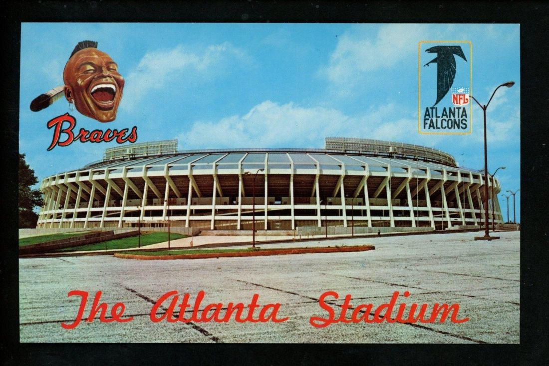 vintage Atlanta Stadium postcard (from Ebay)