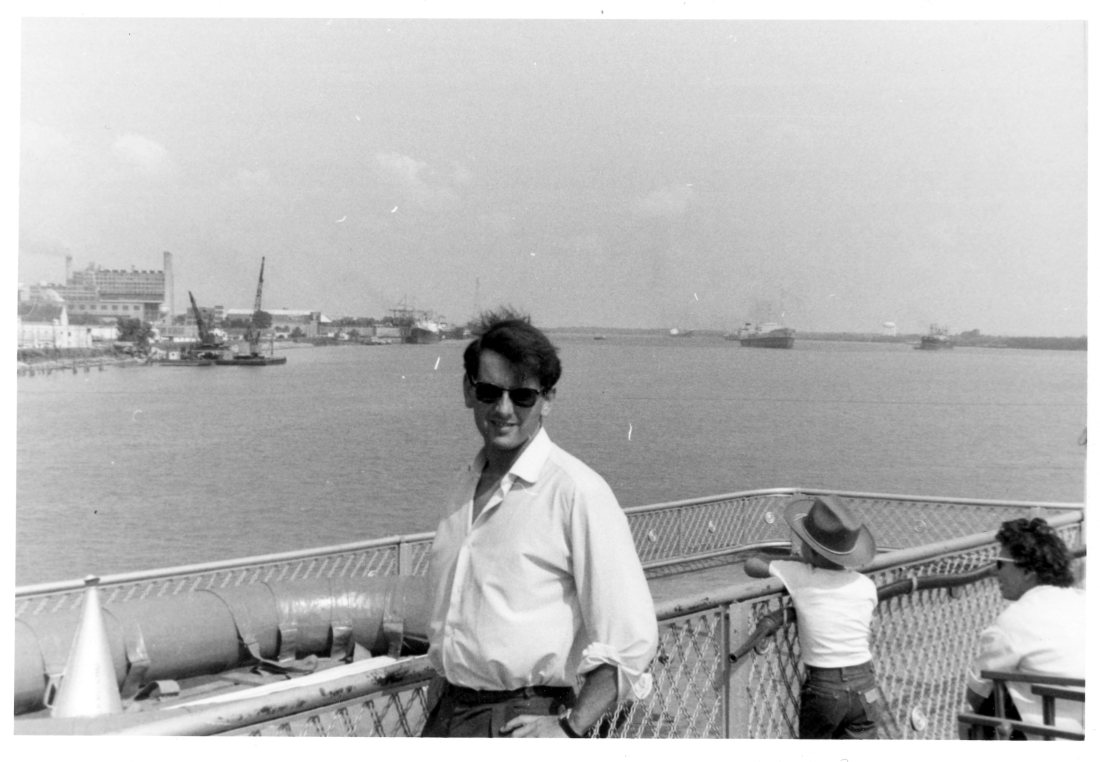 1965 06 New Orleans Colin on the Riverboat President