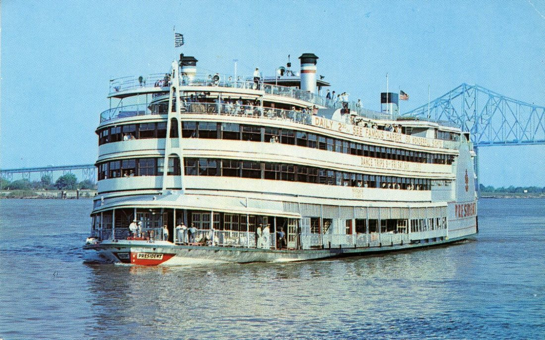1965 06 New Orleans Mississippi Riverboat President