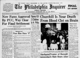 Philadelphia Inquirer 1965 front page