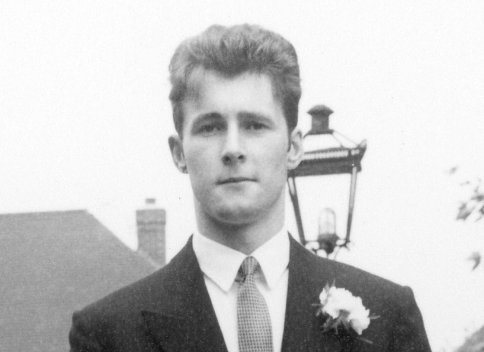 Nigel at his sister Carol's wedding in July 1965
