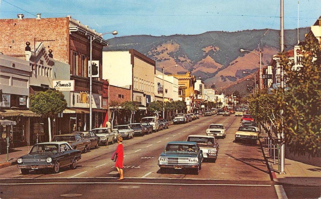 SAN-LUIS-OBISPO-CA-Higuera-Street-Downtown-Scene postcard online