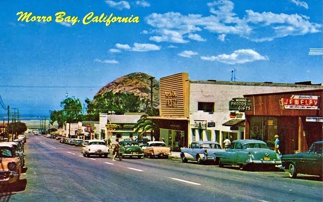 Morro Bay vintage postcard