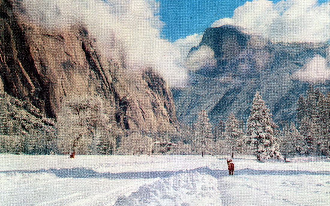 P35 YOSEMITE NATIONAL PARK CALIFORNIA HALF DOME – WINTER.