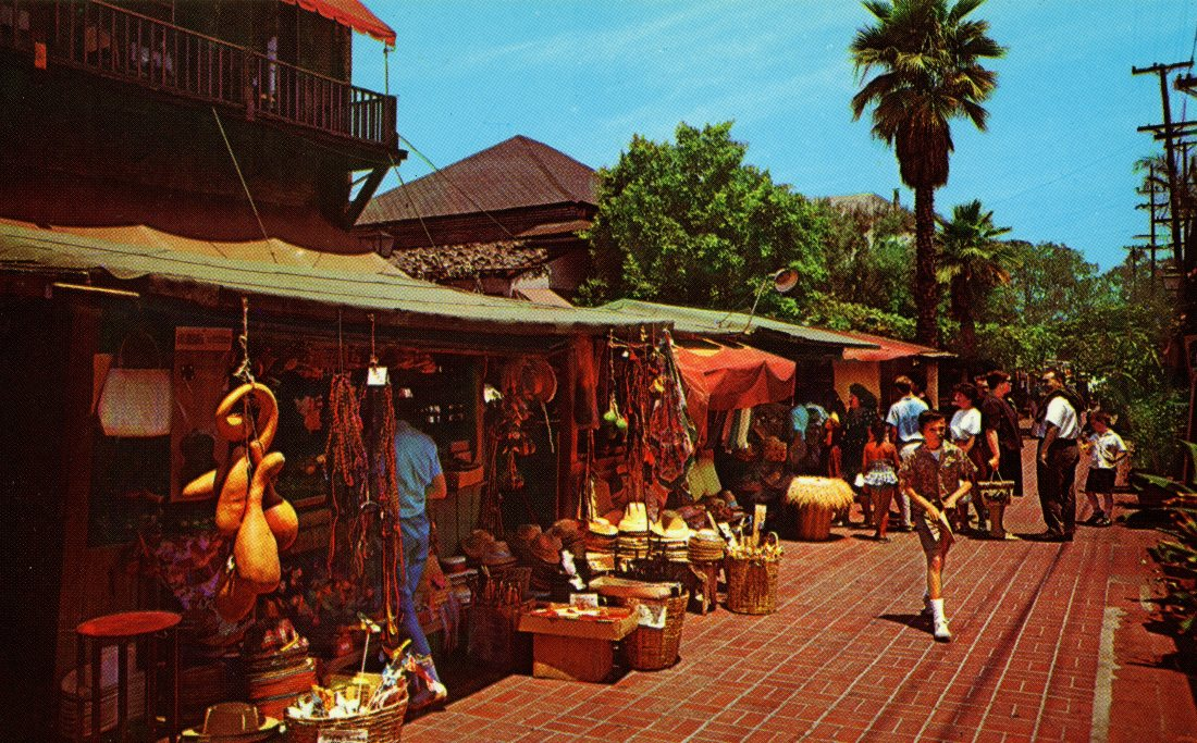 P56 A BIT OF EARLY LOS ANGELES 'OLVERA STREET_ LOS ANGELES CALIFORNIA