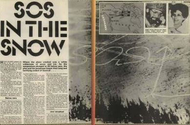 SOS in the snow newspaper cutting