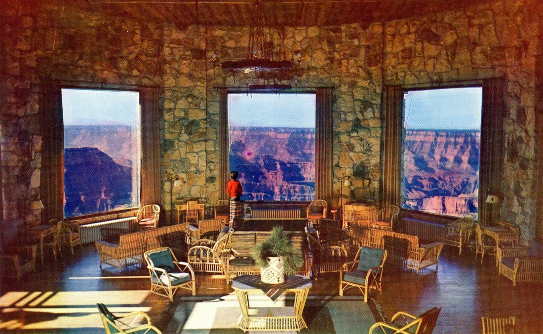 The lounge at Grand Canyon Lodge, Grand Canyon National Park, Arizona P7.jpg