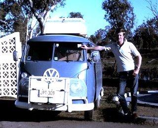 Tony with VW campervan