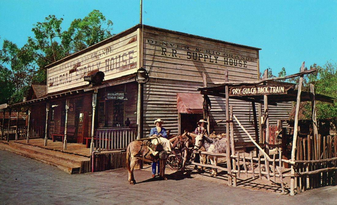 p33 DRY GULCH PACK TRAIN Knott_s Berry Farm, Ghost Town, California
