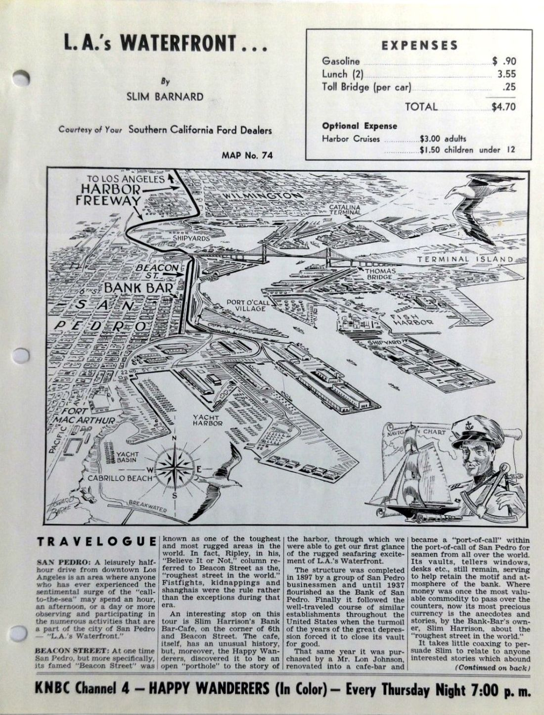 la waterfront 1960s pamphlet