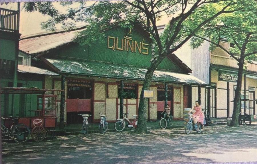 quinn's bar tahiti postcard front