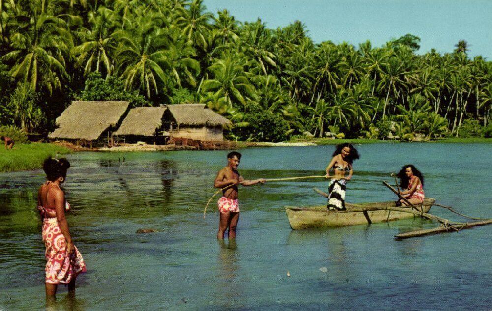 s-l1600 Tahiti postcard front